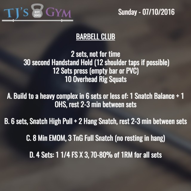 07:10:2016Barbell
