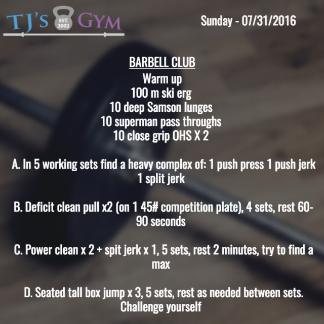 07:31:2016BARBELL