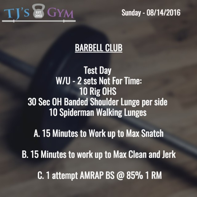 08-14-2016 Barbell