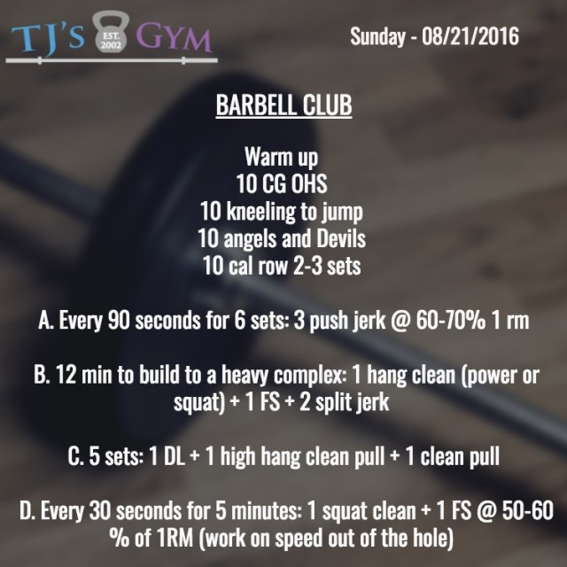 08-21-2016 Barbell