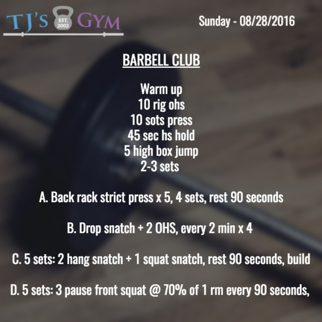 08-28-2016 Barbell