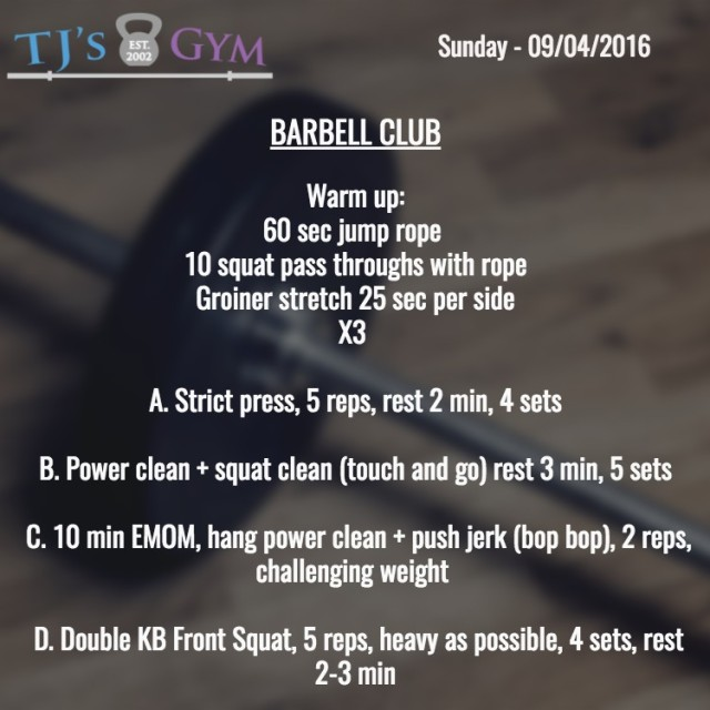09-04-2016 Barbell