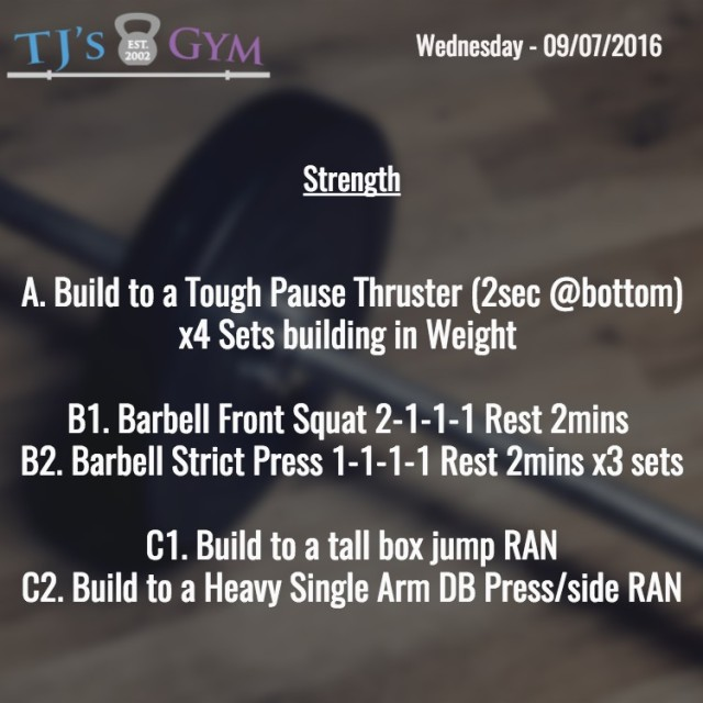 Strength - Wednesday 09-07-2016