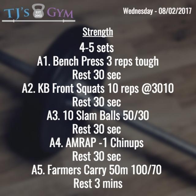 strength - wednesday 08-02-2017