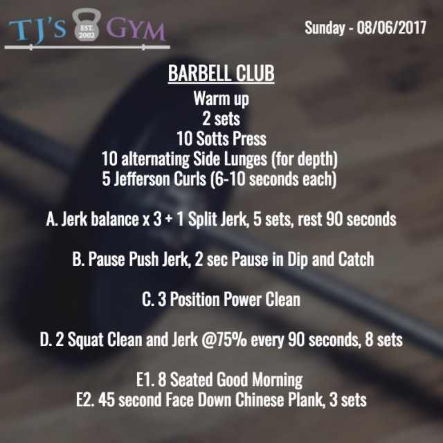 sunday 07-30-2017 barbell (1)